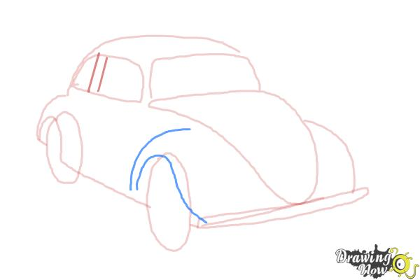 How to Draw a Volkswagen Beetle - Step 6