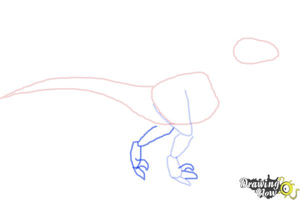 How to Draw a Velociraptor - Step 4