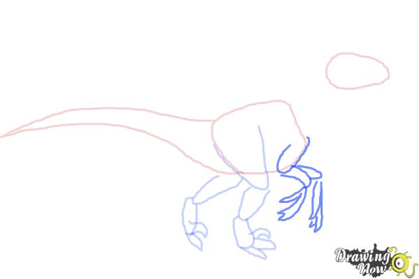 How to Draw a Velociraptor - Step 5