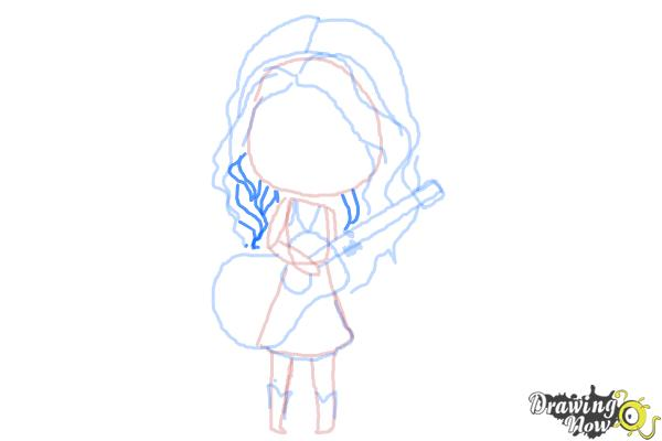 How to Draw Chibi Taylor Swift - Step 10