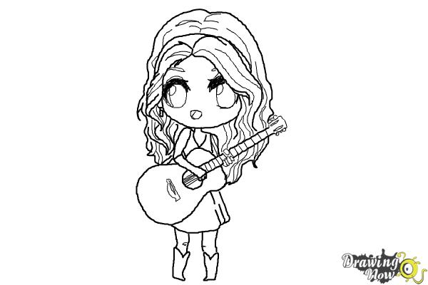 How to Draw Chibi Taylor Swift