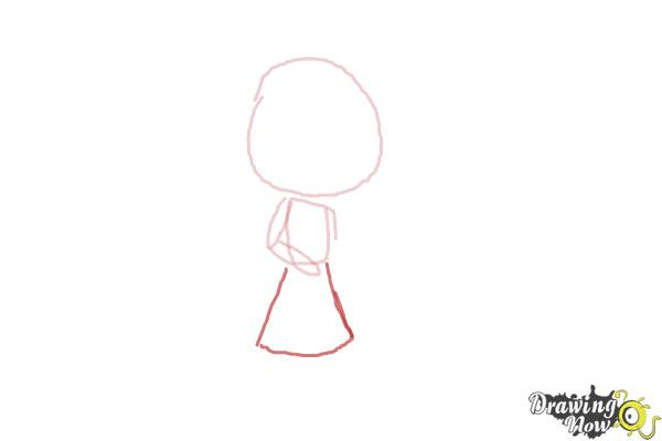 How to Draw Chibi Taylor Swift - Step 3