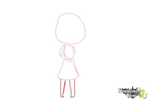 How to Draw Chibi Taylor Swift - Step 4