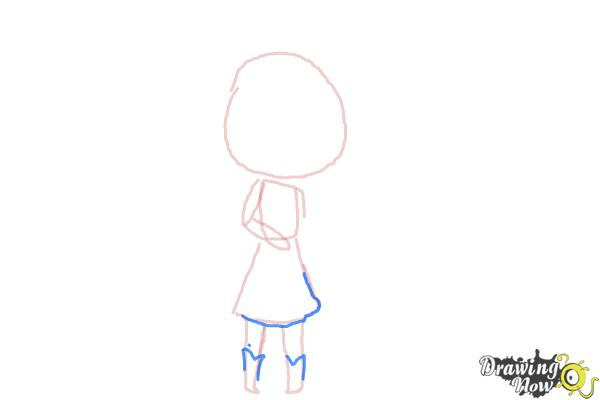 How to Draw Chibi Taylor Swift - Step 5