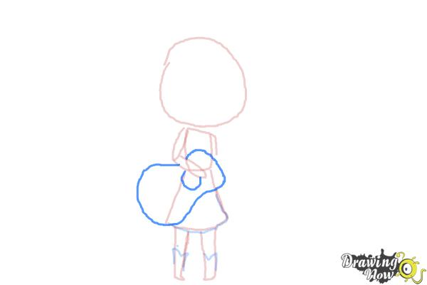 How to Draw Chibi Taylor Swift - Step 6