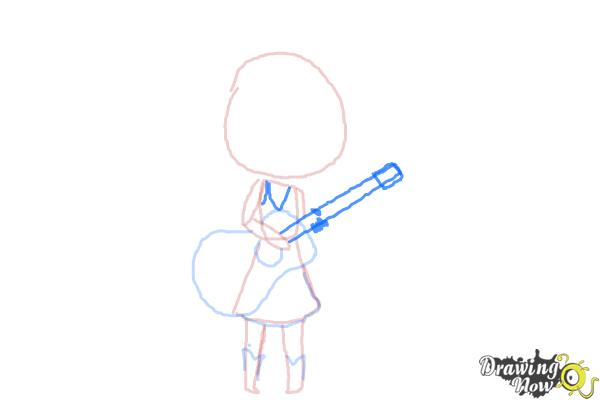How to Draw Chibi Taylor Swift - Step 7