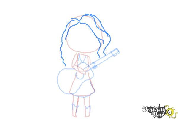 How to Draw Chibi Taylor Swift - Step 8