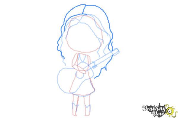 How to Draw Chibi Taylor Swift - Step 9