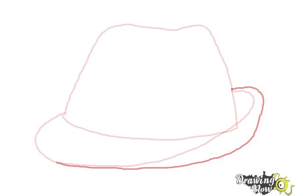 how to draw a fedora