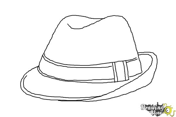 How To Draw A Fedora Drawingnow