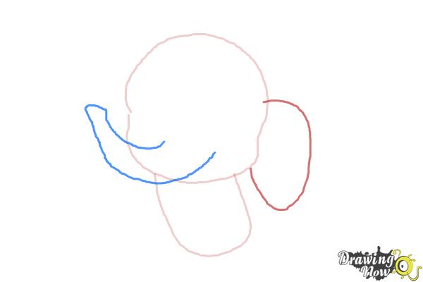 How to Draw an Elephant For Kids - Step 3