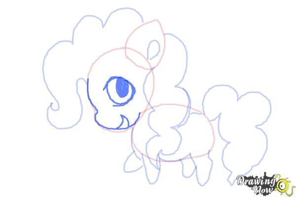 How to Draw Chibi Pinkie Pie from My Little Pony Friendship Is Magic - Step 7