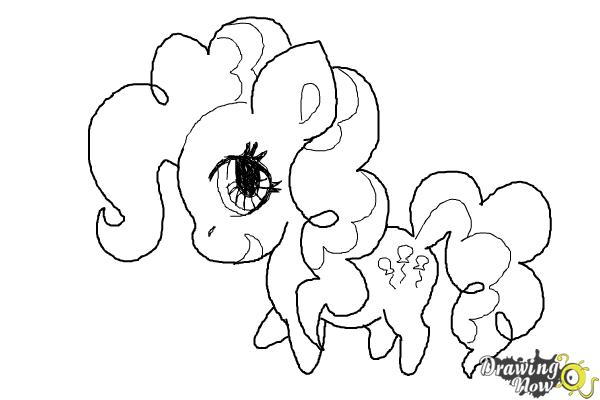 How to Draw Chibi Pinkie Pie from My Little Pony Friendship Is Magic - Step 9