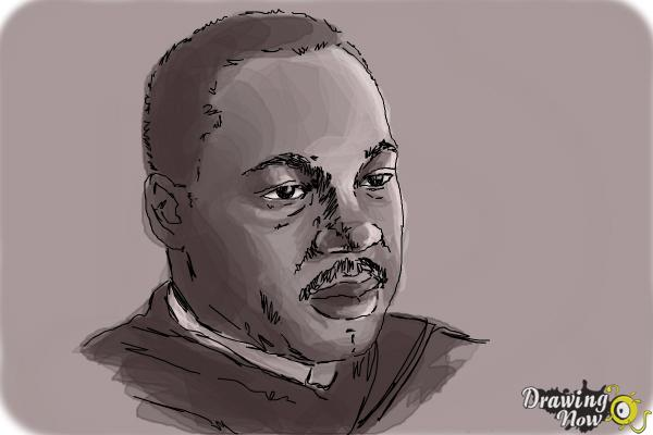 How to draw Martin Luther King Jr - Step 10