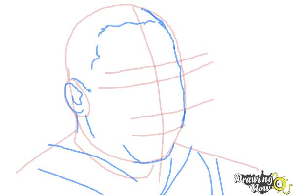 How to draw Martin Luther King Jr - Step 3