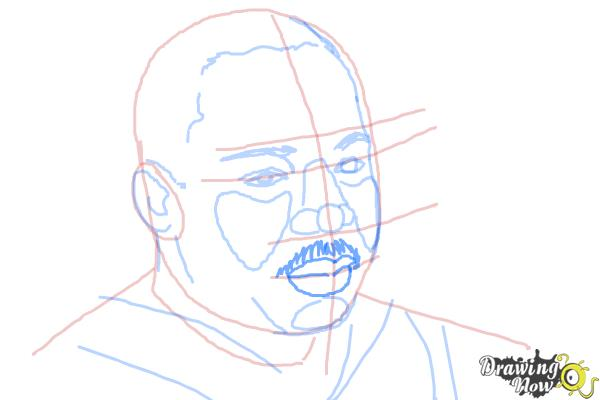How to draw Martin Luther King Jr - Step 6