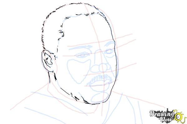 How to draw Martin Luther King Jr - Step 7