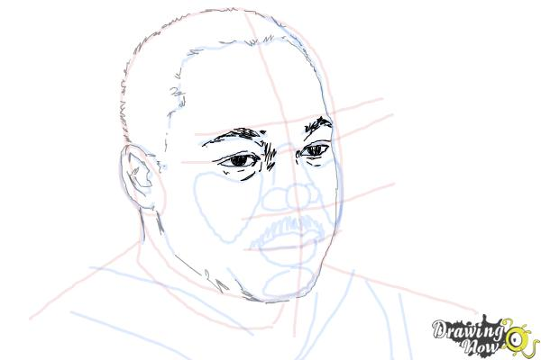 How to draw Martin Luther King Jr - Step 8
