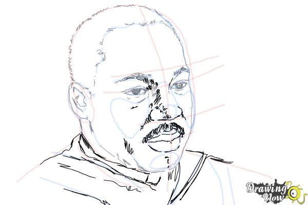 How to Draw Martin Luther King Jr | DrawingNow