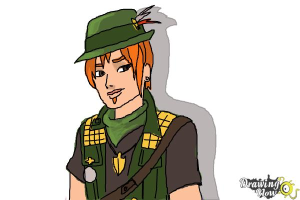 How to Draw Sparrow Hood The Son Of Robin Hood from Ever After High - Step 10