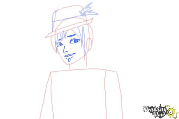 How to Draw Sparrow Hood The Son Of Robin Hood from Ever After High - Step 6