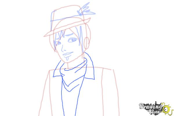 How to Draw Sparrow Hood The Son Of Robin Hood from Ever After High - Step 7