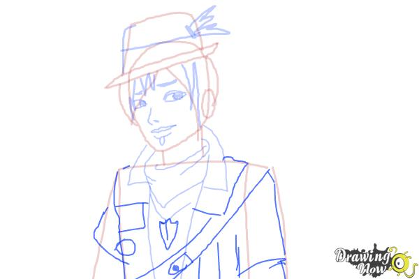 How to Draw Sparrow Hood The Son Of Robin Hood from Ever After High - Step 8