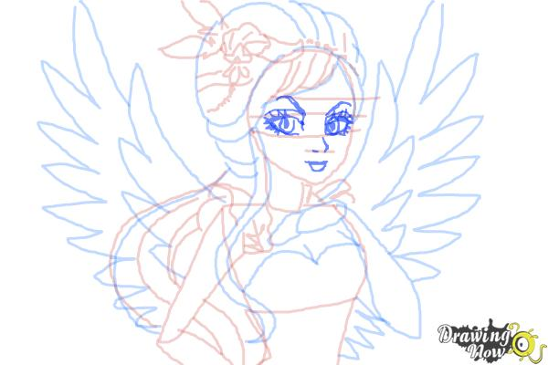 How to Draw Duchess Swan The Daughter Of Swan Princess from Ever After High - Step 10