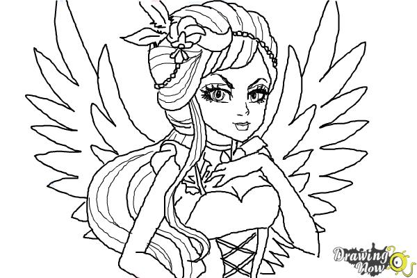 How to Draw Duchess Swan The Daughter Of Swan Princess from Ever After High - Step 11