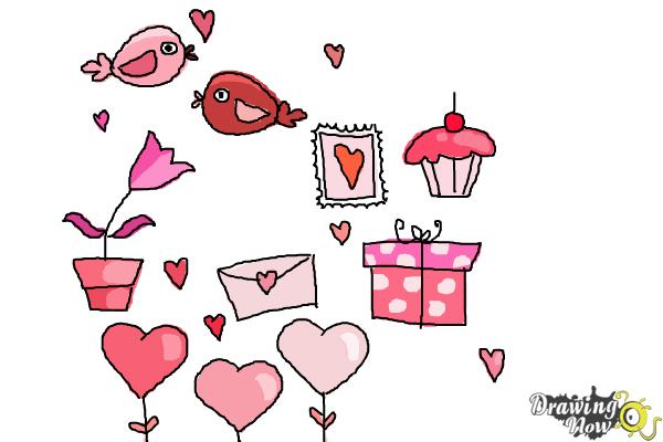 How to Draw Valentines Day Stuff - Step 11