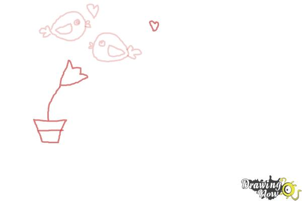 How to Draw Valentines Day Stuff - Step 4