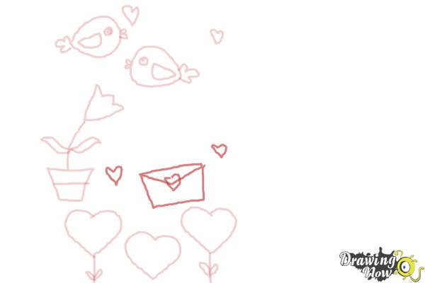 How to Draw Valentines Day Stuff - Step 6