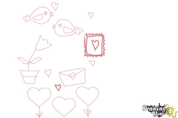 How to Draw Valentines Day Stuff - Step 7