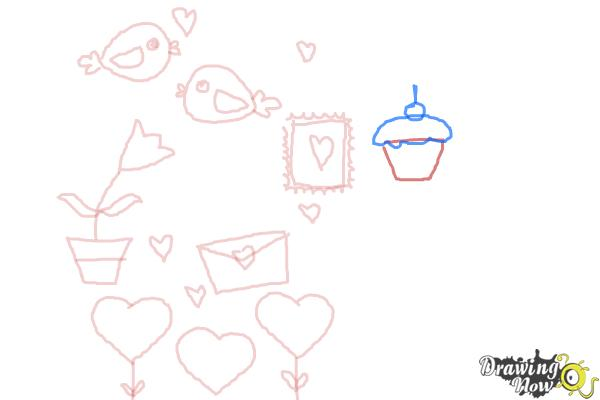 How to Draw Valentines Day Stuff - Step 8