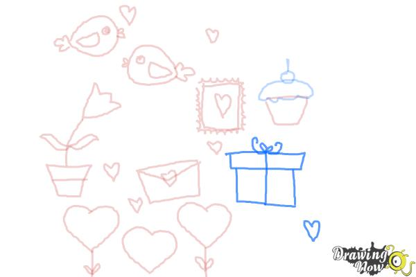 How to Draw Valentines Day Stuff - Step 9