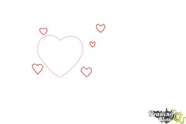 How to Draw a Valentine Heart - Step 2