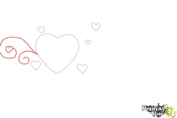How to Draw a Valentine Heart - Step 3