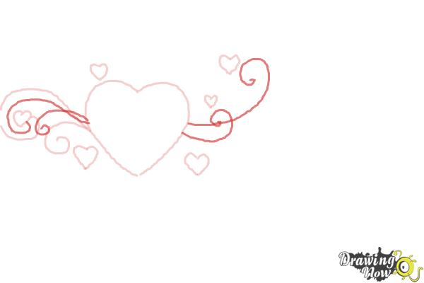 How to Draw a Valentine Heart - Step 4