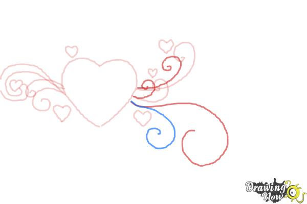 How to Draw a Valentine Heart - Step 5
