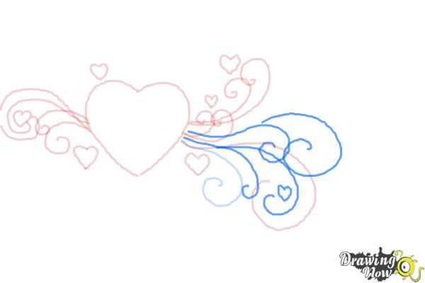 How to Draw a Valentine Heart - Step 6
