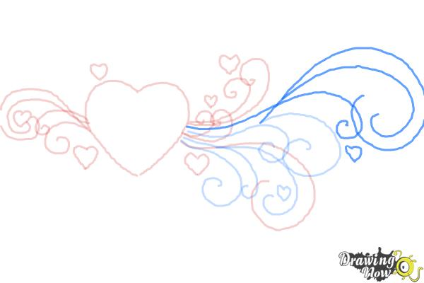 How to Draw a Valentine Heart - Step 7