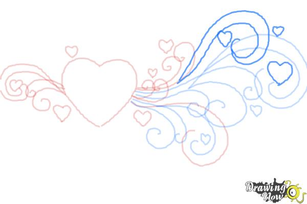 How to Draw a Valentine Heart - Step 8