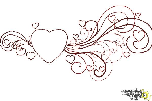 How to Draw a Valentine Heart - Step 9
