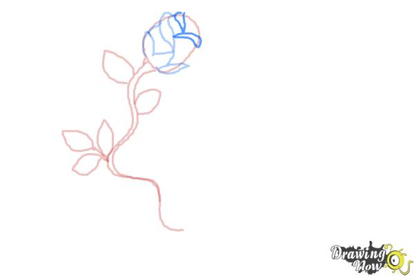 How to Draw a Rose With a Heart - Step 6