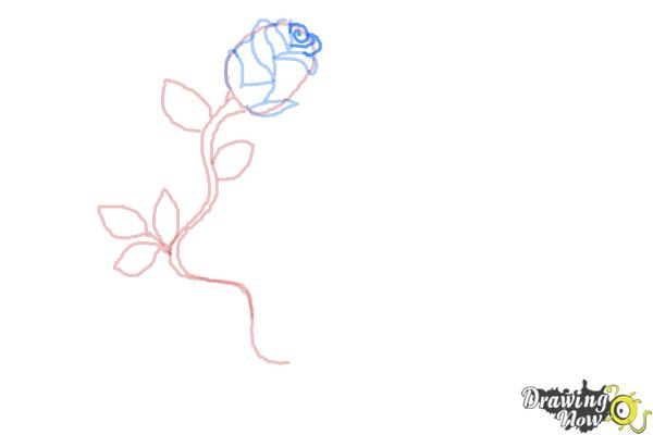 How to Draw a Rose With a Heart - Step 7