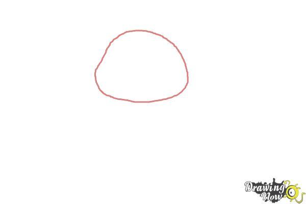 How to Draw a Valentine Bear - Step 1