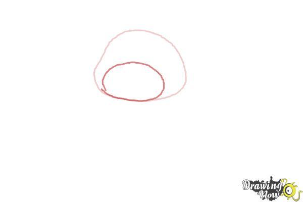 How to Draw a Valentine Bear - Step 2