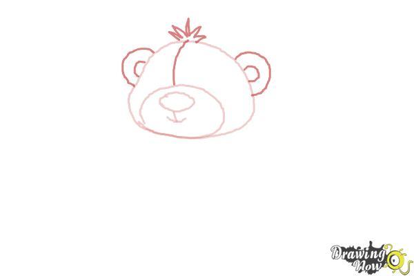How to Draw a Valentine Bear - Step 4