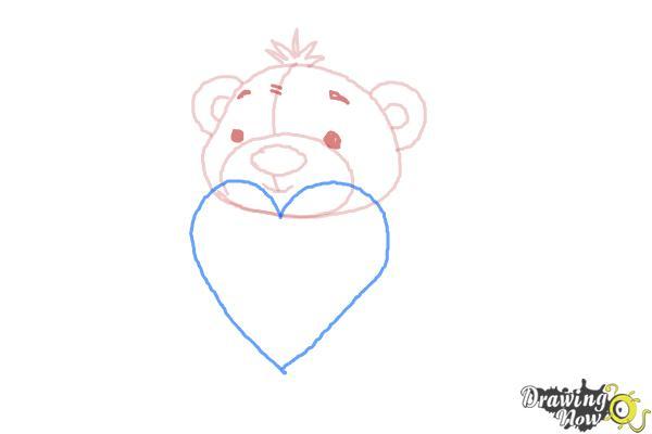 How to Draw a Valentine Bear - Step 5