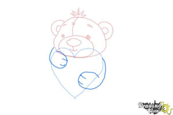 How to Draw a Valentine Bear - Step 6